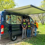 Morton Arborteum staff in Lisle, Ill, visiting our van on 5/18/16. They liked the birds. (Wendy Love Photography)