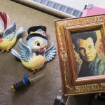 Jon Langford's Merle Haggard and Mr. & Mrs. Blue Bird, my parents heirlooms. (Jon Sall photo)
