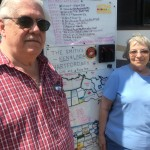 Wisconsin friends mapping out their road memories, Amarillo Ranch 6/8/16